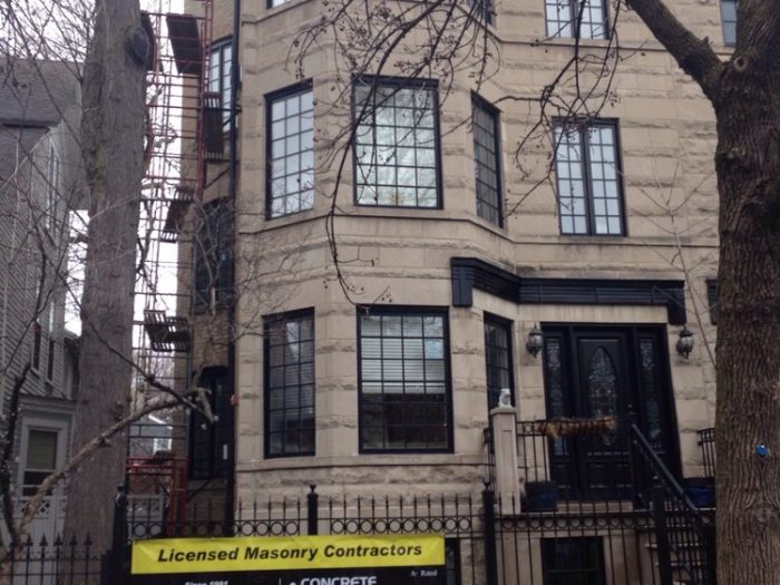 Chicago,Lakeview area. Early Spring Tuck pointing and Sealing project by the Gralak Licensed Masonry contractors