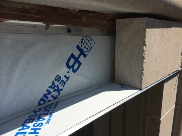 The window flashing installed by Gralak Waterproofing Masonry Contractors of Chicago