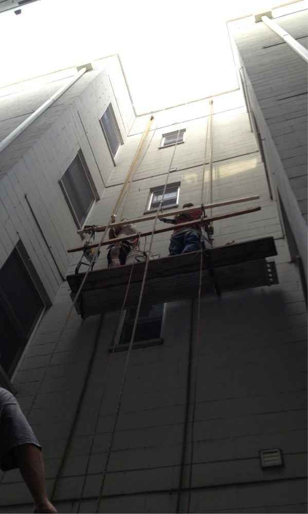 Waterproofing Tuckpointing project by Gralak licensed masonry contractors of Chicago. Call for free estimate 773-282-2343